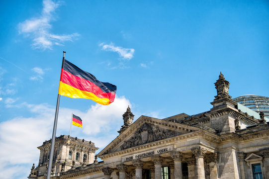 Reichstag building, seat of the German Parliament