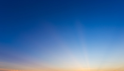 clear blue sky in sunset time
