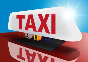 taxi - enseigne - voiture - transport - service - touriste - professionnel de la route