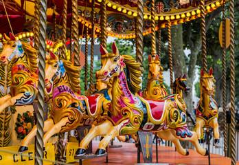 Horses on London Carousel