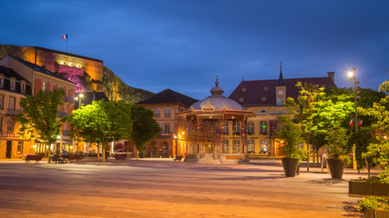 Belfort Market Square at Night, France