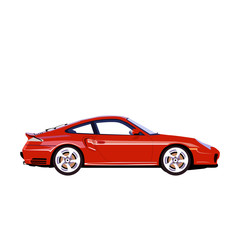 detail car design flat illustration