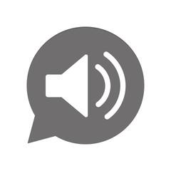 Graue Sprechblase rund - Lautsprecher