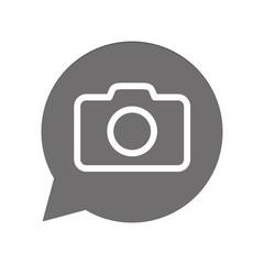 Graue Sprechblase rund - Kamera