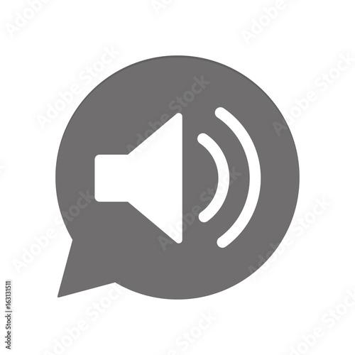 Graue Sprechblase rund - Lautsprecher\