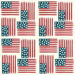American flag seamless pattern. Vector illustration.