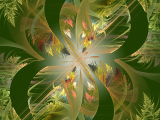 Abstract fractal Endless Forest