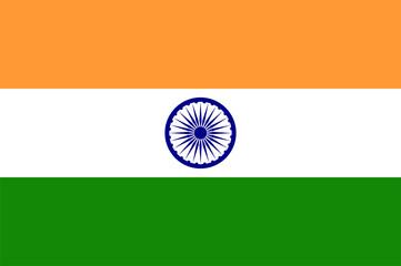 Indian flag. Flat vector illustration EPS 10