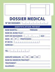 Illustration dossier médical II. Fichier français.