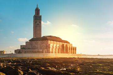 view of hassan ii mosque - Casablanca - Morocco