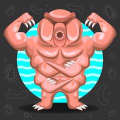 Tardigrade Water Bear illustration