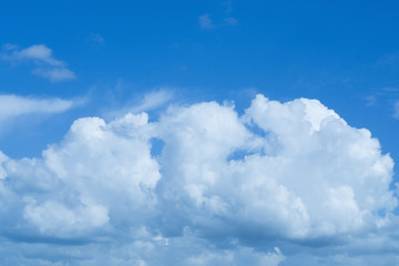 blue sky and  clouds nature background