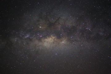 Spoed Foto op Canvas Heelal Milky Way galaxy rising in Sabah, Borneo, Asia