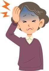 病気 女性 頭痛 上半身 高齢者