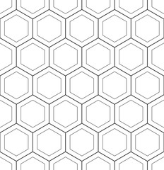 Abstract geometric hoenycomb seamless pattern vector hexagonal triangular background grid texture