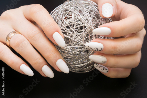 Beautiful manicure and nail art. Natural nails and gel polish ...