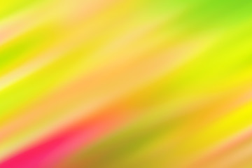 Blurred green background with colored diagonal stripes and spots