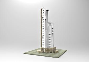 3D rendering; Skyscraper