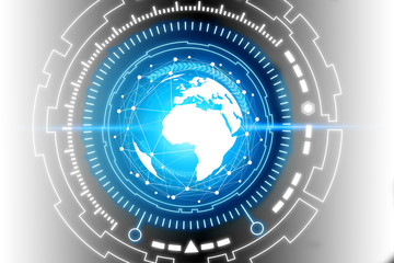 Abstract global future technology background.Globe internet connecting. connection symbols communication lines.