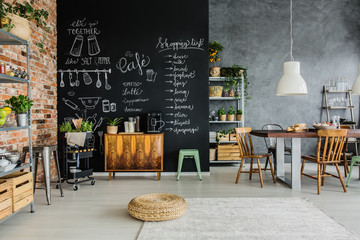 Food and herbs in kitchen