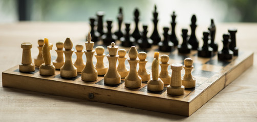 chess game board figures