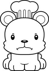 Cartoon Angry Chef Bear