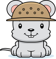 Cartoon Smiling Zookeeper Mouse