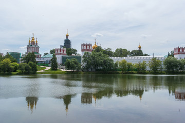 Novodevichy Convent view in Moscow, Russia