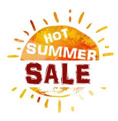 Summer sale banner. Bright template banner