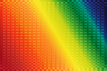 abstract rainbow color background with haftone of square