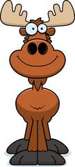 Smiling Cartoon Moose