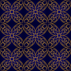 Seamless pattern with damask ornament