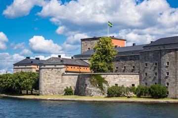 Wall Mural - Festung Vaxholm an der schwedischen Schärenküste