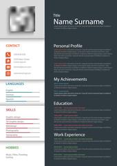 Professional personal resume cv template