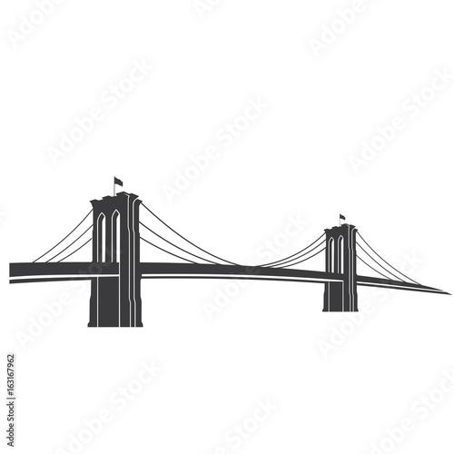 brooklyn grey new york symbol brooklyn bridge vector rh us fotolia com  brooklyn bridge vector free