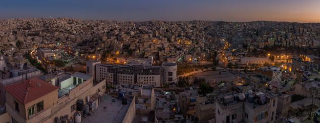 Amman night time Panorama