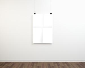 Plakat na ścianie