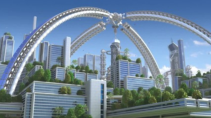 Fotomurales - 3D Animation of a futuristic