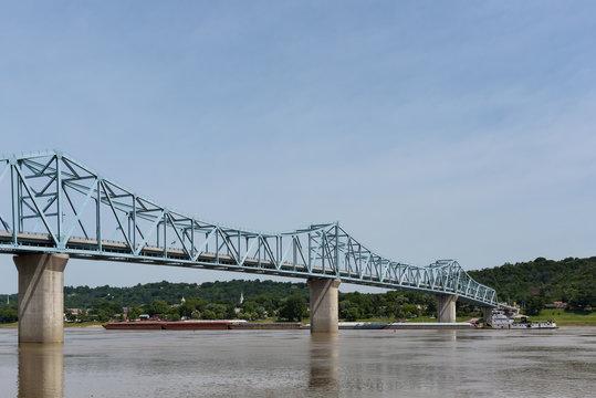 Milton-Madison Bridge on the Ohio River between Kentucky and Indiana