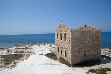 Old mediterranean stone house on the coast