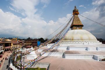 Der Bodanath Tempel in Kathmandu
