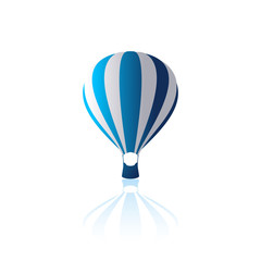 Air balloon vector illustration balloon icon with reflection