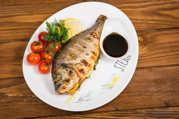 Fish with grill