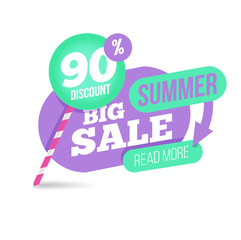 Summer sale template banner.