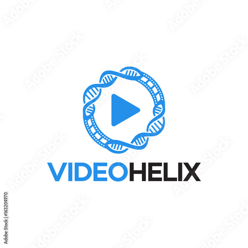 Modern Video Helix Logo Template designs vector illustration ...