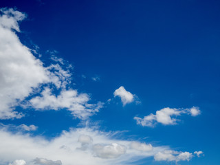 sun light with blue sky and white clouds with grain