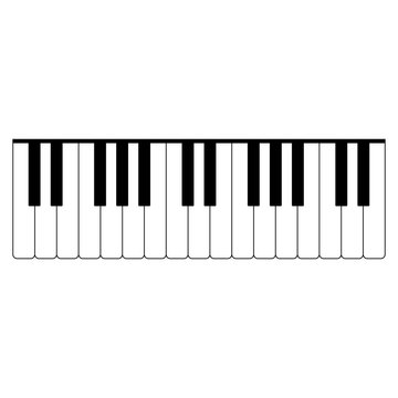 Piano keys the black color icon .