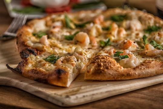 Fresh Brick oven wood fired pizza