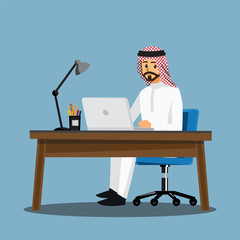 business women People  Desk,Vector illustration cartoon character