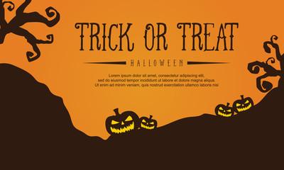 Halloween style greeting card